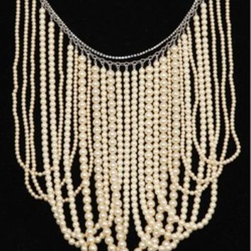 Chan Luu Multi Strand Cream Pearl Necklace