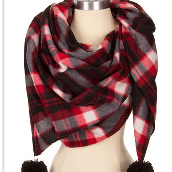 Blanket Scarf Plaid Scarf Trending Now Gift for teacher gift for best friend Winter Scarf - By PiYOYO 54387