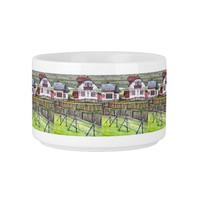 Transylvania, Romania, Picturesque Painted Scenery Bowl