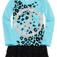 Sequin Ruffle Tunic | Girls Long Sleeve Tops & Tees | Shop Justice