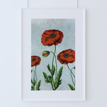 Charmant Poppy Decor Poppy Art Poppy Vintage Botanical Print Poppy Kitchen Decor  Poppy Print Poppy Wall Decor