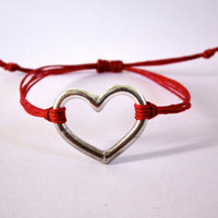 Red Heart Bracelet by DevonVivian on Etsy