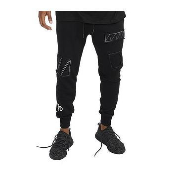 Fashion fitness Pant Men cargo pants sweatpants Trousers Fashion Fitted Bottoms street wear hip hop pencil pants