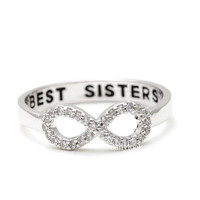 best sisters infinity ring,best sisters rings, infinity engraved ring, best sisters jewelry, infinity ring, best sisters, family ring