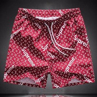 Louis Vuitton X Supreme Fashion Casual Sport Shorts Beach Shorts-1