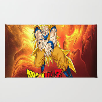 Goku Dragon ball Z saiyan Rug by Store2u