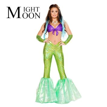 MOONIGHT Sexy Mermaid Costume Adult Halloween Costume for Women Cosplay Carnival Costume Feminina