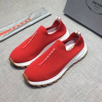 Prada  Women Men New Fashion Casual Shoes Sneaker Sport Running Shoes