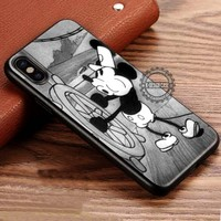 Mickey Mouse Retro Steamboat Willie iPhone X 8 7 Plus 6s Cases Samsung Galaxy S8 Plus S7 edge NOTE 8 Covers #iphoneX #SamsungS8