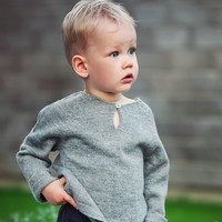 Raglan pullover / Baby alpaca gray sweater /  light summer pullover for boy / girl / baby / toddler / kids