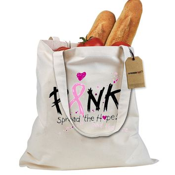Pink Spread The Hope Breast Cancer Awareness Shopping Tote Bag