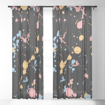 Spatter Sheer Curtain by duckyb