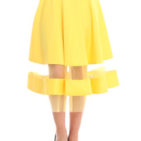 SA10439 YELLOW SKIRT