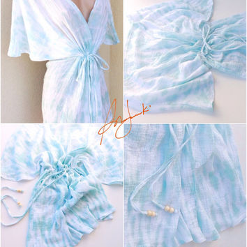 Women's Beach Coverup Summer Sexy Tunic Dress Vacation Travel Coverall White Bikini Cover Swimsuit Cover XS to Small