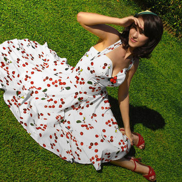 Rockabilly cherry wedding dress