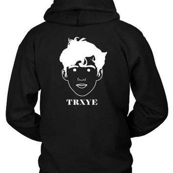DCCKL83 Troye Sivan Cartoon Face Detail Hoodie Two Sided