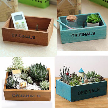 Multi-function Storage Cabinet Wood Tray Treasure Chests