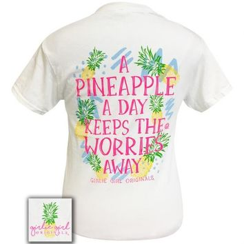 Girlie Girl Originals Preppy Pineapple Worries T-Shirt