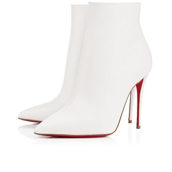 Christian Louboutin Cl So Kate Booty Latte Leather 14s Ankle Boots 1140505wha8 -