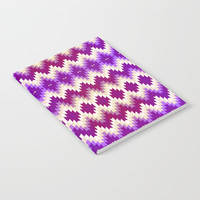 Purple Vintage Geometric Burst Notebook by Tanyadraws