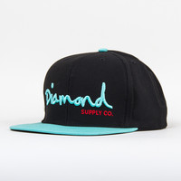 OG Script Snapback in Black/Diamond Blue/Red
