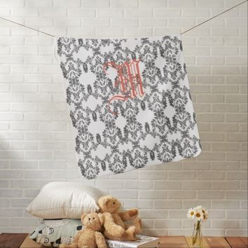 Luxury Pattern Monogram Baby Stroller Blanket