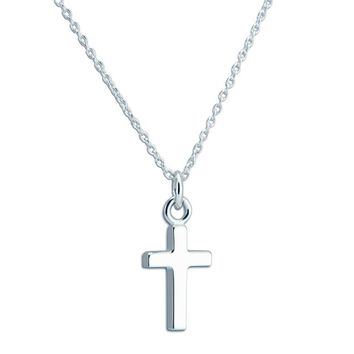 NORWICH STERLING SILVER CROSS NECKLACE