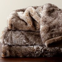 Faux Fur Throw - Caramel