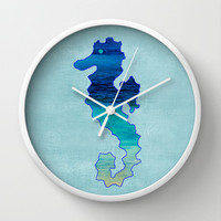 SEAHORSE SEA-NIC Wall Clock by catspaws
