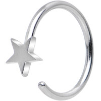 "20 Gauge 5/16"" Stainless Steel Evening Star Nose Hoop 