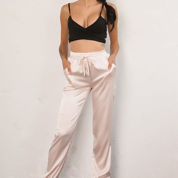 *Online Exclusive* Satin Street-Style Pant