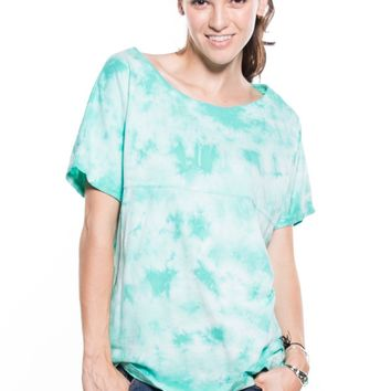 Catherine- Women's Short Sleeve Crystal Wash Tee