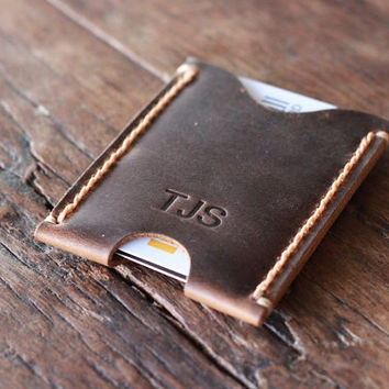 PERSONALIZED WALLET - - - Ultra Slim Minimalist Wallet --- JooJoobs Original - 023 - Awesome Groomsmen Gift Idea