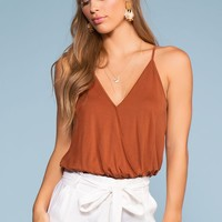Vacay All Day Top - Brownie