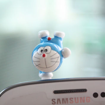 SALE30-70%OFF: Doraemon Dust Plug . Phone Plug . Kawaii, Lovely, Girly, japan, anime, manga, Cute , Cartoon. Cat.