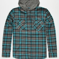 SHOUTHOUSE Edgemont Mens Hooded Flannel Shirt | Flannels