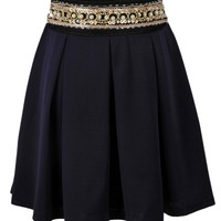 Bejeweled Pleated Skirt - OASAP.com