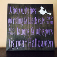 Halloween Sign, Stained and Hand Painted, Customizable, Home decor