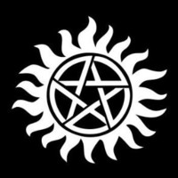 "Supernatural Anti-Possession Seal Vinyl Die Cut Decal Sticker 5"" White"