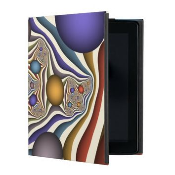 Flying Up, Colorful, Modern, Abstract Fractal Art iPad Cover