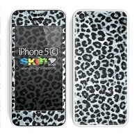 Real Black and White Leopard Skin For The iPhone 5c