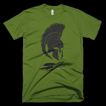 Savage Crew Greek Helmet Gym Shirt