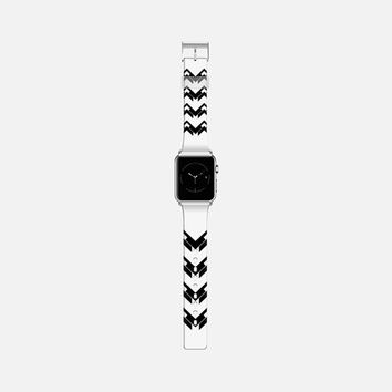 chevron black and white Apple Watch Band (38mm) by VanessaGF   Casetify