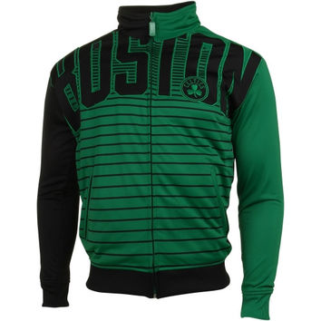 Boston Celtics Flatline Full Zip Track Jacket - Kelly Green