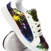 Lace Up Sequence Sneakers by Wanted
