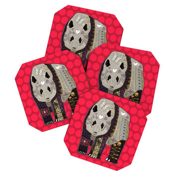 Sharon Turner Chocolate Panda Coaster Set