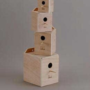 Lovebird Nest Box Wood (inside Mount)