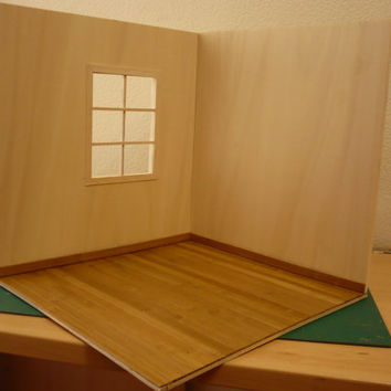OPPORTUNITY  Roombox for diorama scale 1: 6 for blythe pullip barbie etc.