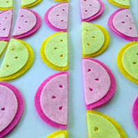 Pink Lemonade Party Garland, Lemon Garland, Fruit Garland, Summer Decoration, Birthday Party, Kitchen Decor