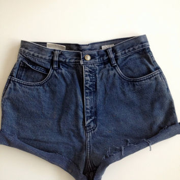 "High Waisted ""Bill Blass""  Jean Denim Shorts - 29"" Waist"